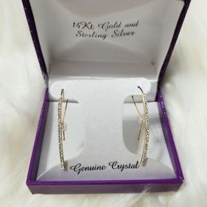 Jewelry - Genuine Crystal Stick Earrings